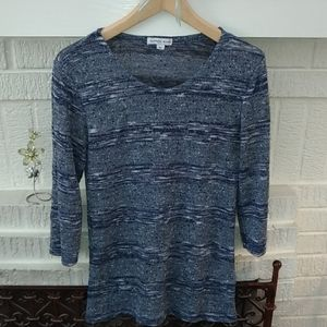 Alfred Sung Blue Knit Top